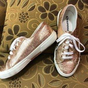 Rose Gold Superga sneakers